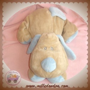 ANIMAL ALLEY SOS DOUDOU CHIEN BEIGE ALLONGE BOUT BLEU