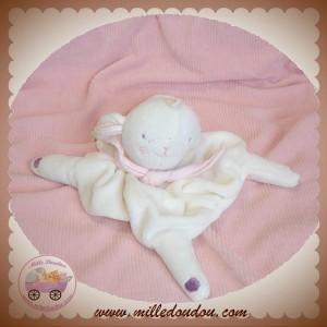absorba sos doudou mouton plat blanc rose. Black Bedroom Furniture Sets. Home Design Ideas
