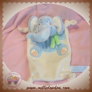 CHARLY & CIE SOS DOUDOU ELEPHANT PLAT ECRU BLEU TIAMO