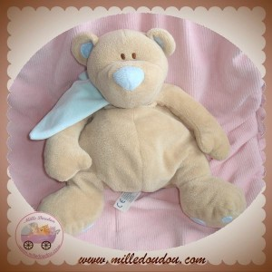 JOLLYBABY SOS DOUDOU OURS RICKY BEIGE ECHARPE BLEU MUSICAL