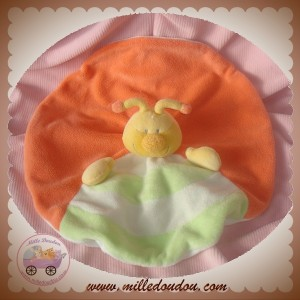 JOLLYBABY DOUDOU COCCINELLE PLATE OVAL ORANGE VERT