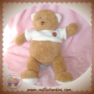 ANNA CLUB PLUSH DOUDOU OURS MARRON PULL ECRU