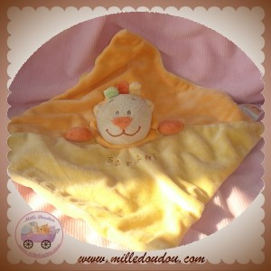 DOU KIDOU SOS DOUDOU LION SAFARI PLAT JAUNE ORANGE