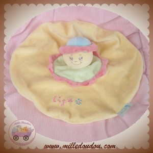 KING BEAR SOS DOUDOU FILLE PLATE OVAL ORANGE ROSE LIZA