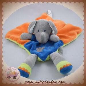 NICOTOY SOS DOUDOU ELEPHANT PLAT ORANGE BLEU VERT