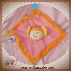 CHICCO SOS DOUDOU PAPILLON PLAT CARRE ROSE ORANGE