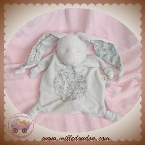 RAYNAUD LES PETITES MARIE DOUDOU LAPIN PLAT TAUPE GRIS NOEUD