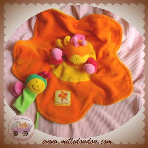 MOULIN ROTY DOUDOU ABEILLE LOUNA PLAT ORANGE BEBE FLEUR SOS