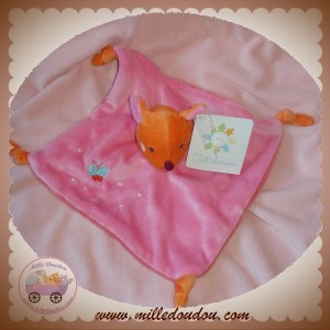 CREATIVTOYS DOUDOU BAMBI BICHE PLAT ROSE ORANGE SOS