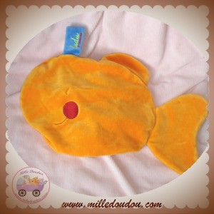 DUDU DOUDOU BALEINE POISSON ORANGE PLAT SOS