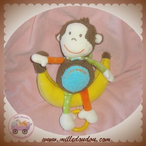 BABYSUN DOUDOU SINGE LITTLE MONKEY MARRON MUSICAL SOS