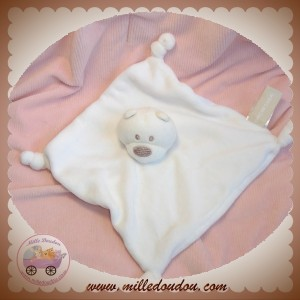 ORCHESTRA DOUDOU OURS PLAT BLANC NOEUD SOS