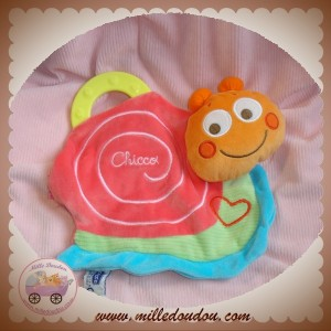 CHICCO DOUDOU ESCARGOT PLAT ROSE COEUR DENTITION SOS