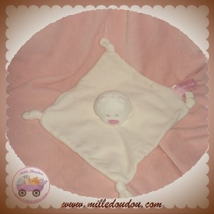 ORCHESTRA DOUDOU OURS PLAT BLANC NOEUD ROSE SOS