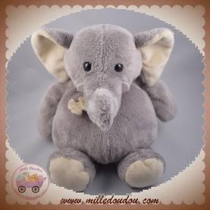 HISTOIRE D'OURS DOUDOU ELEPHANT GRIS 25 cm SOS