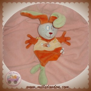CATIMINI DOUDOU LAPIN MARIONNETTE VERT ORANGE POISSON SOS