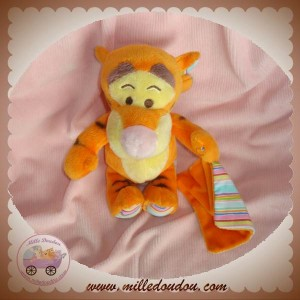 DISNEY NICOTOY DOUDOU TIGROU ORANGE MOUCHOIR RAYEE SOS