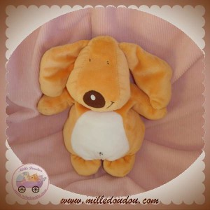 ORCHESTRA DOUDOU CHIEN ORANGE VENTRE BLANC SOS