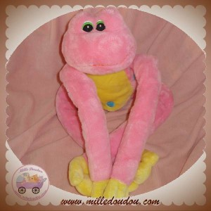 ANIMAL ALLEY DOUDOU GRENOUILLE ROSE VENTRE JAUNE POIS BLEU SOS