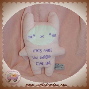 TAPE A L'OEIL DOUDOU LAPIN ROSE GROS CALIN SOS