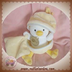 BABYNAT BABY NAT DOUDOU POUSSIN CANARD JAUNE CLAIR COQUILLE MOUCHOIR ECRU SOS
