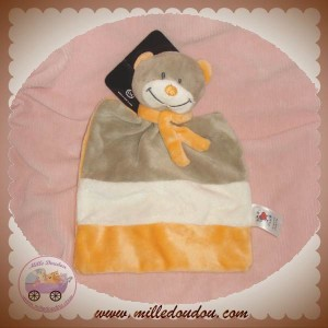 BABY CLUB C&A DOUDOU OURS PLAT MARRON TAUPE ORANGE SOS