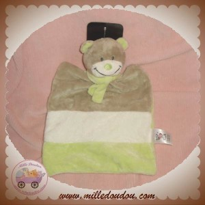 BABY CLUB C&A DOUDOU OURS PLAT MARRON TAUPE VERT SOS