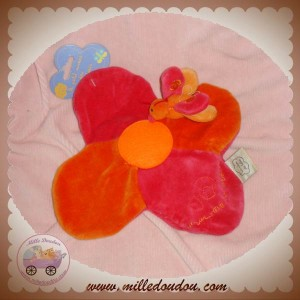 CMP DOUDOU PAPILLON PLAT FLEUR ROUGE ORANGE SOS