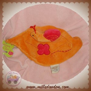 CMP DOUDOU ESCARGOT PLAT FEUILLE ORANGE SOS