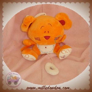 TIAMO TI AMO DOUDOU SOURIS OURS ORANGE MUSICAL SOS