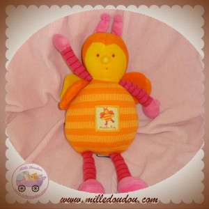 MOULIN ROTY DOUDOU ABEILLE LOUNA ROSE ORANGE 28 SOS