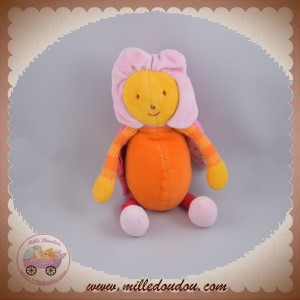 MOULIN ROTY DOUDOU ABEILLE LOUNA ROSE ORANGE FLEUR SOS