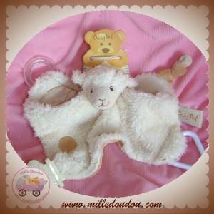 babynat doudou mouton plat blanc sos. Black Bedroom Furniture Sets. Home Design Ideas