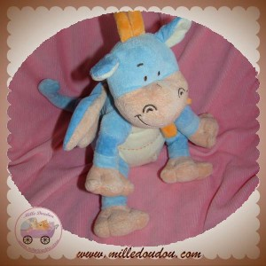 BENGY DOUDOU DRAGON BLEU ECRU ORANGE SOS