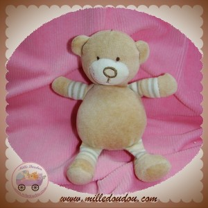 MGM DOUDOU OURS BEIGE RAYE VERT SOS