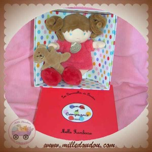 DOUDOU ET COMPAGNIE POUPEE FILLE MLLE FRAMBOISE ROUGE OURS SOS