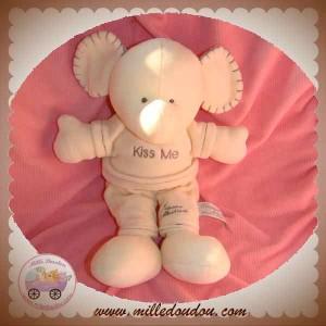 TIAMO TI AMO DOUDOU ELEPHANT ECRU BLANC GRIS LOVE ME SOS