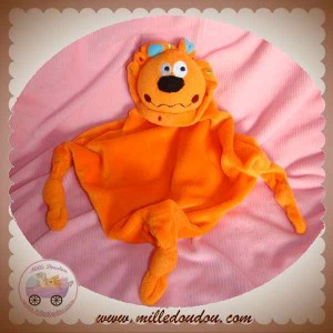 CARREBLANC DOUDOU LION CORPS LOSANGE PLAT ORANGE NOEUD SOS