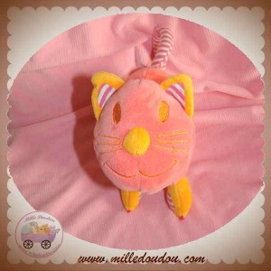 TCF DOUDOU CHAT ROSE ORANGE ALLONGE SOS
