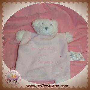 ABSORBA DOUDOU OURS PLAT ROSE GOURMAND SOS