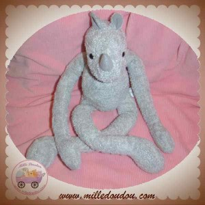NATURE ET DECOUVERTES SOS DOUDOU RHINOCEROS GRIS