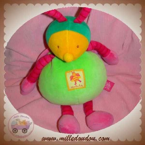 MOULIN ROTY DOUDOU ABEILLE LOUNA FLORIMOND VERTE ROSE ORANGE 26