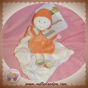 BERLINGOT DOUDOU GARCON CAJOU ORANGE MOUCHOIR SOS