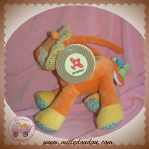 NICOTOY DOUDOU LION ORANGE JAUNE MUSICAL SOS SOS