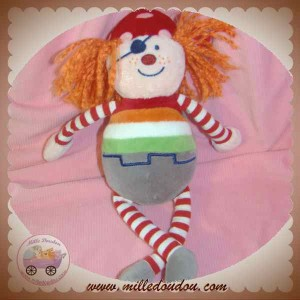 CATIMINI DOUDOU POUPEE PIRATE CHEVEUX ORANGE SOS