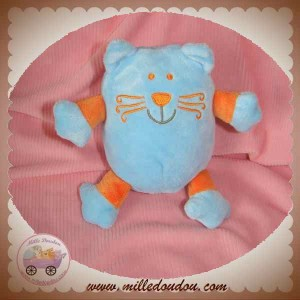 VETIR SOS DOUDOU CHAT QUASI BLEU ORANGE