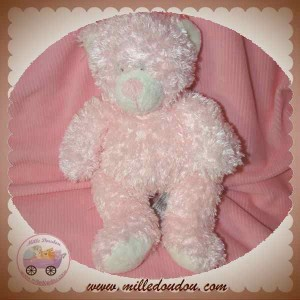 ANNA CLUB PLUSH DOUDOU OURS ROSE A POIL SOS
