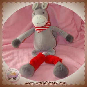 RAYNAUD LES PETITES MARIE DOUDOU CHEVAL GRIS JAMBIERES ROUGE SOS