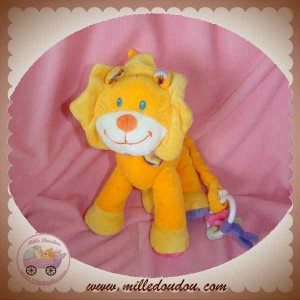 POMMETTE SOS DOUDOU LION ORANGE JAUNE MUSICAL