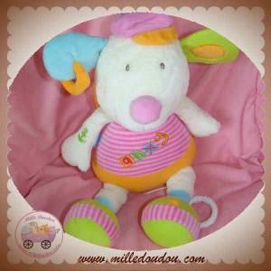 BABYSUN BABY SUN DOUDOU CHIEN SOURIS ECRU AHOY ROSE ORANGE MUSICAL SOS